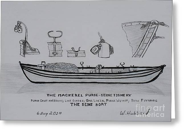 The Gloucester Seine Boat Greeting Card by Bill Hubbard