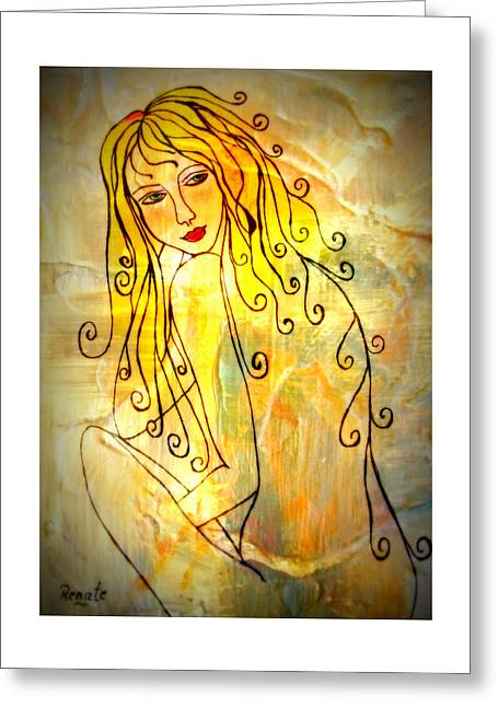 The Glow Of A Woman..... Greeting Card