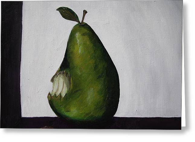 The Gmo Pear Greeting Card by Alicia Lockwood