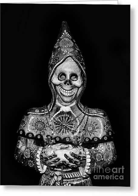 The God Of Death Awaits You - Voodoo Statue Greeting Card by Lee Dos Santos