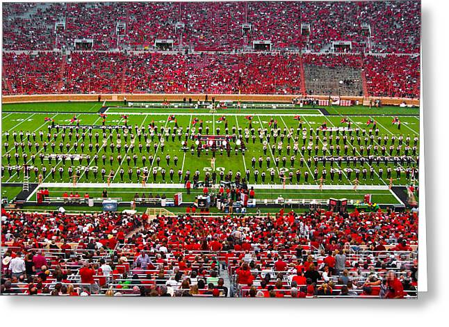 Greeting Card featuring the photograph The Going Band From Raiderland by Mae Wertz
