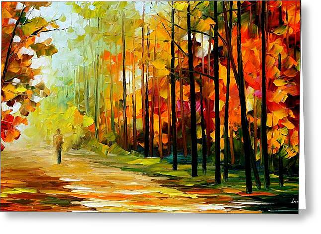the gold of nature palette knife oil painting on canvas by leonid
