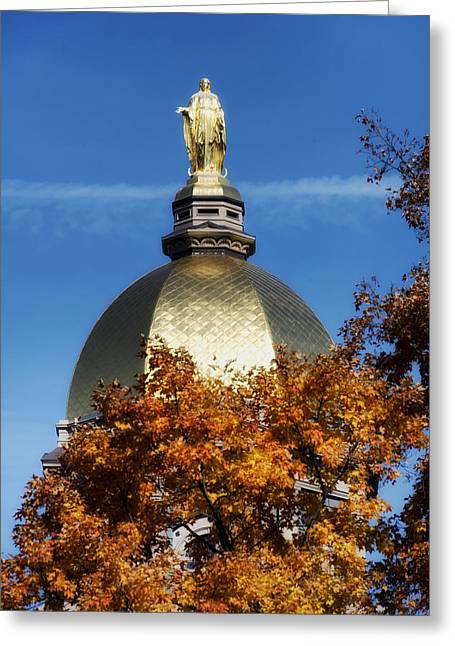 The Golden Dome Of Notre Dame Greeting Card by Mountain Dreams