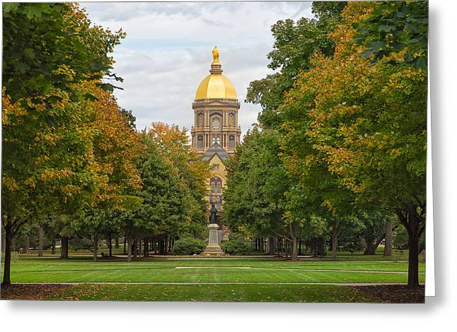 The Golden Dome Of Notre Dame Greeting Card