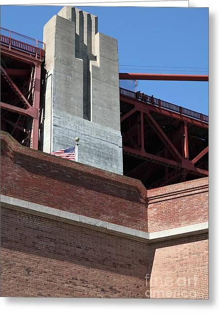The Golden Gate Bridge At Fort Point - 5d21471 Greeting Card by Wingsdomain Art and Photography
