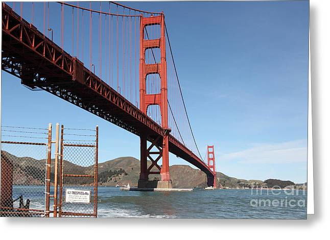 The Golden Gate Bridge At Fort Point - 5d21478 Greeting Card by Wingsdomain Art and Photography