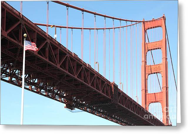The Golden Gate Bridge At Fort Point 5d21589 Greeting Card by Wingsdomain Art and Photography