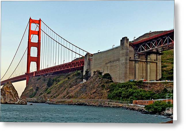 The Golden Gate Bridge  Greeting Card by Jim Fitzpatrick