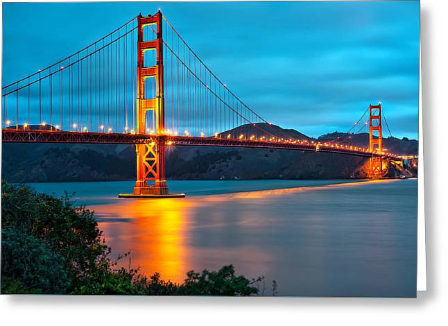 The Golden Gate Bridge - San Francisco California Greeting Card