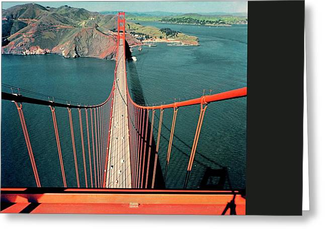 The Golden Gate Bridge Greeting Card by Serge Balkin