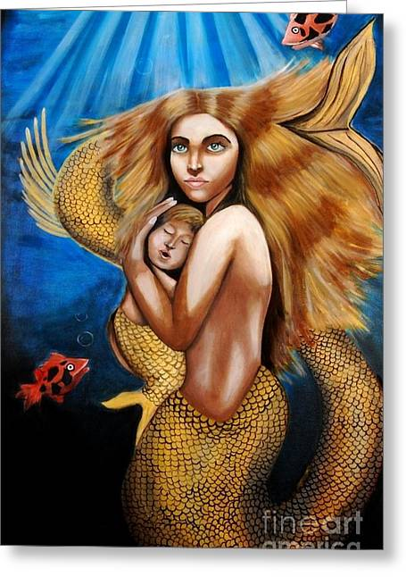 The Golden Mermaid Greeting Card