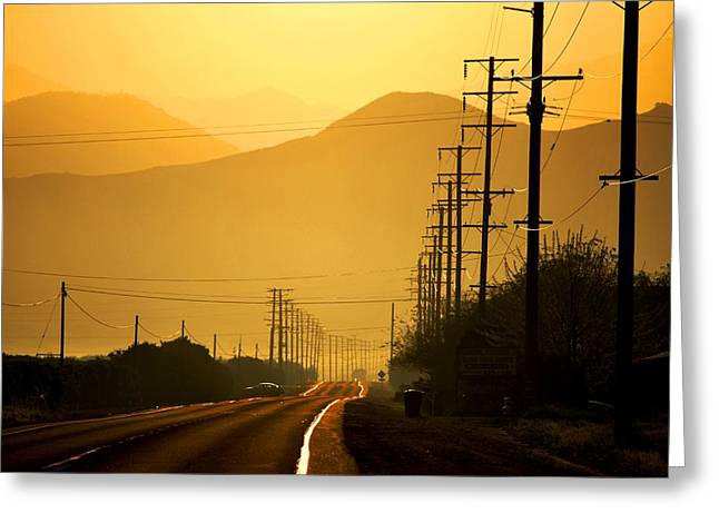 Greeting Card featuring the photograph The Golden Road by Matt Harang