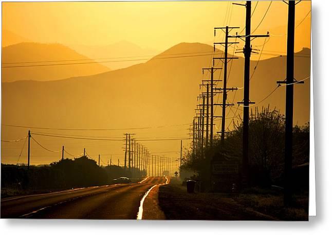 The Golden Road Greeting Card by Matt Harang