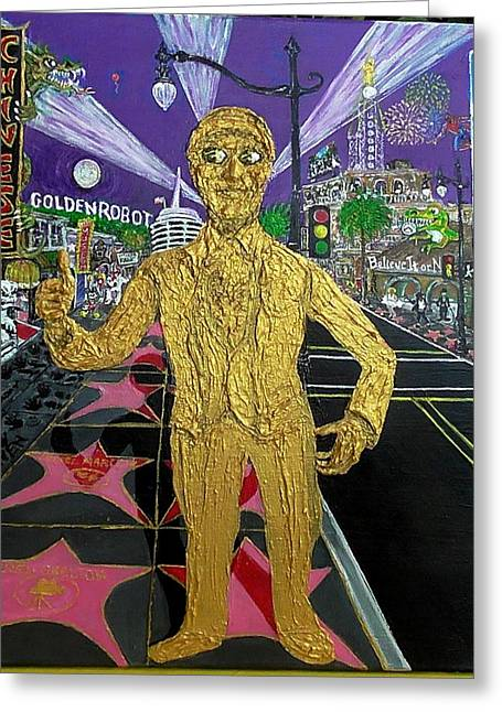 The Golden Robot Greeting Card