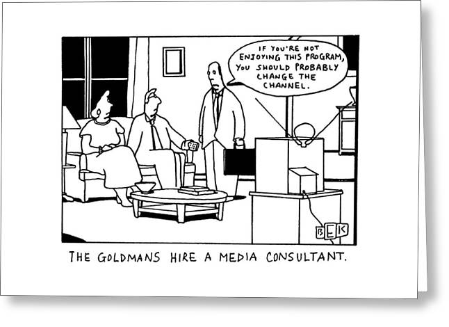 The Goldmans Hire A Media Consultant Greeting Card