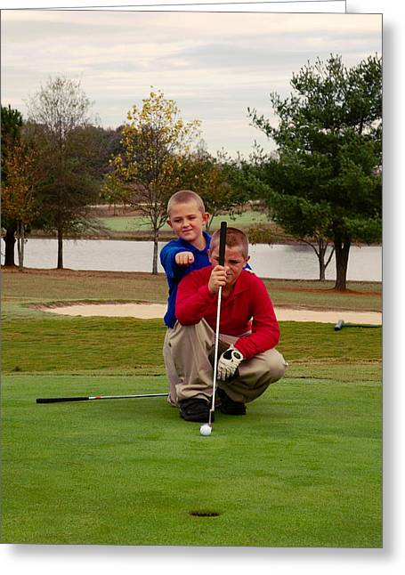 The Golfers Greeting Card by Bob Pardue