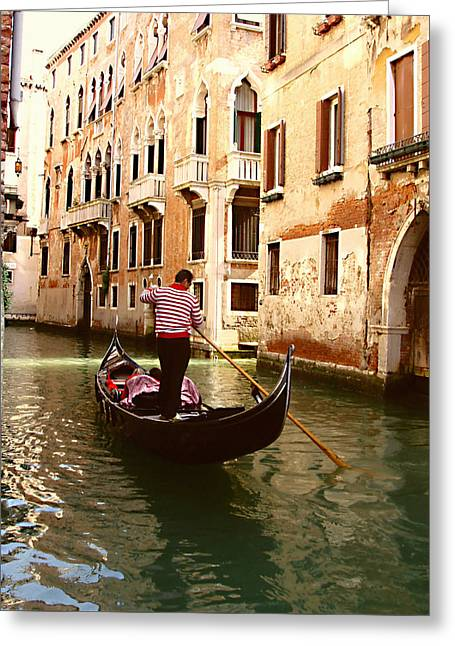 The Gondolier Greeting Card by Ellen Henneke