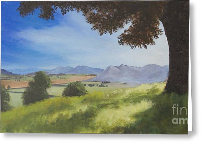 Greeting Card featuring the painting The Good Morning Tree by Dwayne Glapion