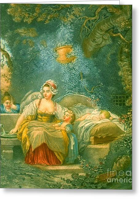 The Good Mother 1780 Greeting Card by Padre Art