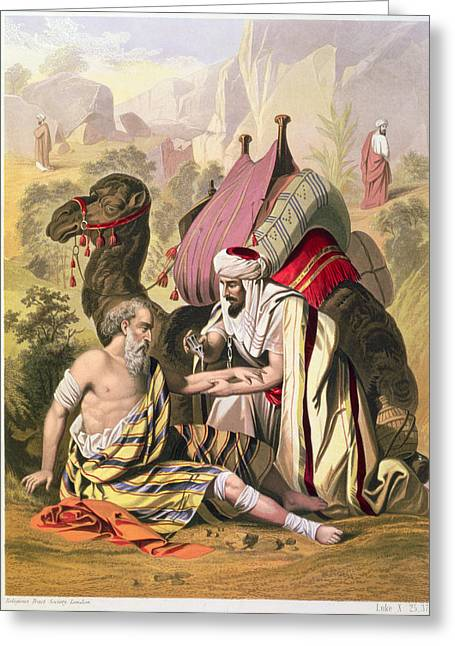 The Good Samaritan, From A Bible Greeting Card