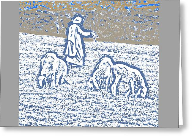 The Good Shepherd 2 Greeting Card by Lenore Senior and Bobby Dar