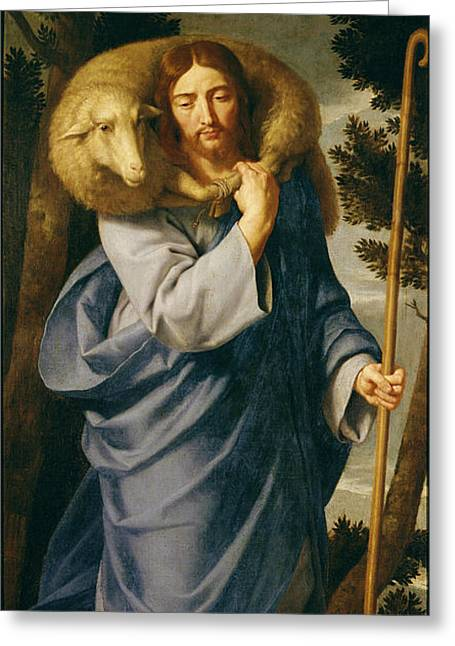 The Good Shepherd  Greeting Card by Philippe de Champaigne