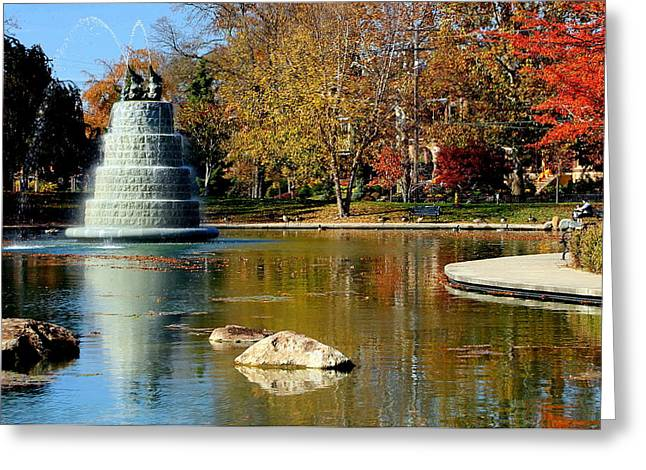 The Goodale Park  Fountain Greeting Card