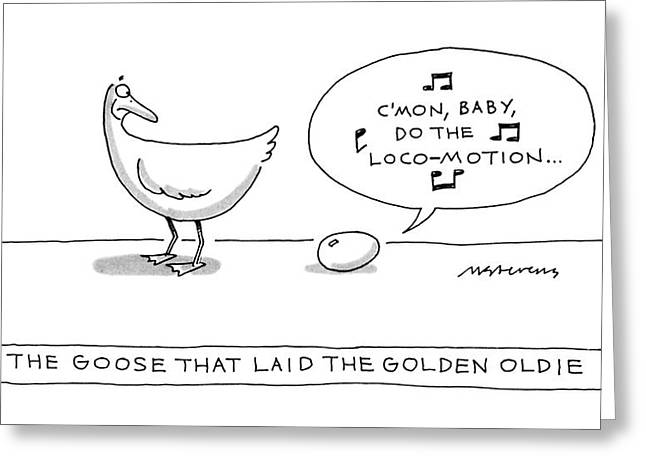 The Goose That Laid The Golden Oldie Greeting Card