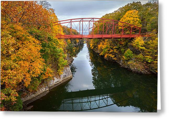 The Gorge Greeting Card by Bill Wakeley