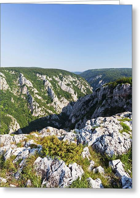 The Gorge Of Zadiel In The Slovak Karst Greeting Card by Martin Zwick