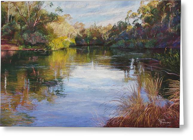 The Goulburn At Mclarty's Greeting Card by Lynda Robinson