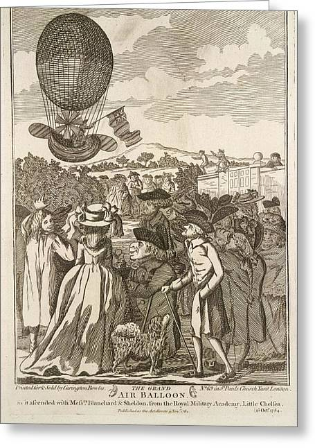 The Grand Air Balloon Greeting Card by British Library