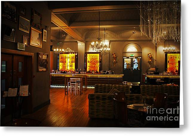 The Grand Cafe Southampton Greeting Card by Terri Waters