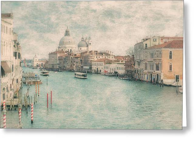 The Grand Canal From The Accademia Bridge Venice Greeting Card by Paul Bucknall
