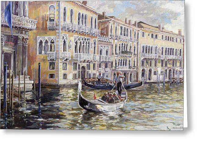 The Grand Canal In The Late Afternoon  Greeting Card by Rosemary Lowndes