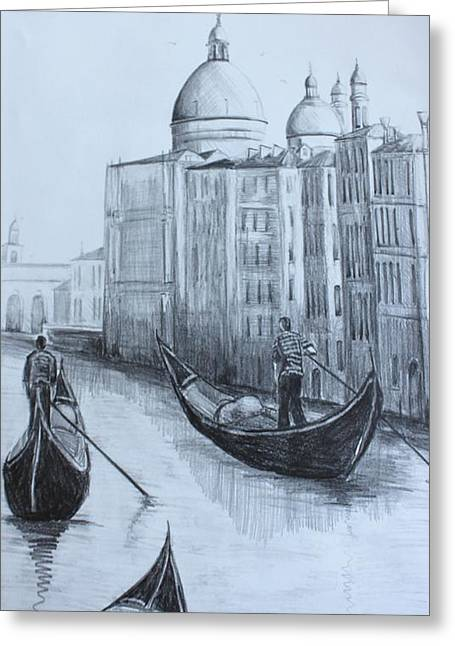 The Grand Canal Greeting Card by Kathy  Karas