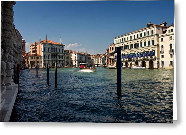 Greeting Card featuring the photograph The Grand Canal by Stephen Taylor