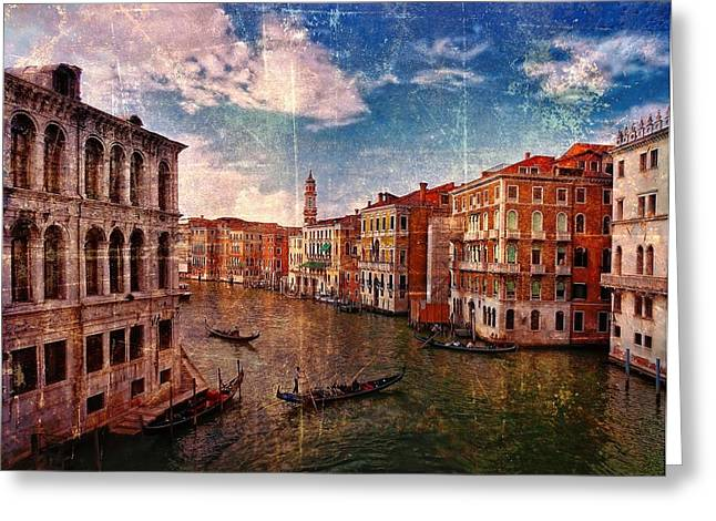 The Grand Canal Venice Italy Greeting Card by Suzanne Powers