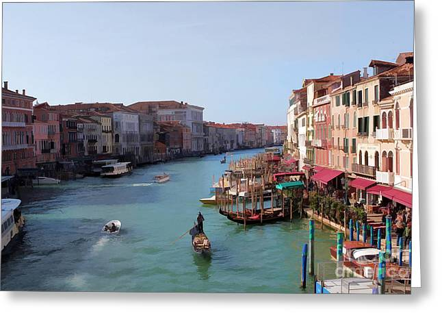 The Grand Canal Venice Oil Effect Greeting Card