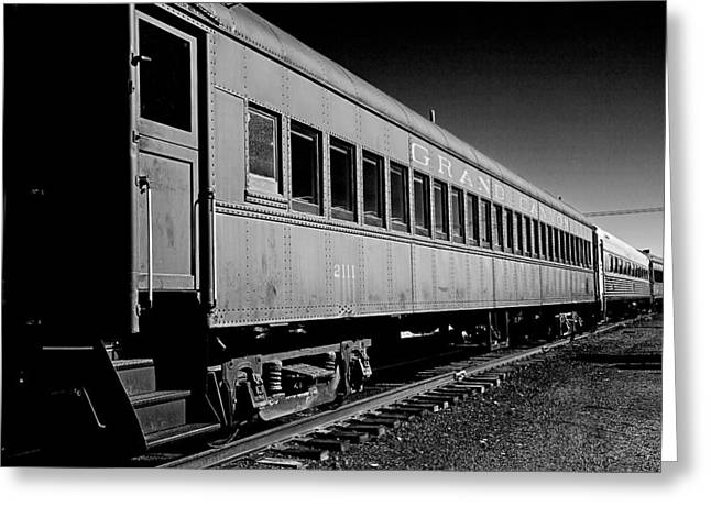 Greeting Card featuring the photograph The Grand Canyon Express 1 Black And White by James Sage