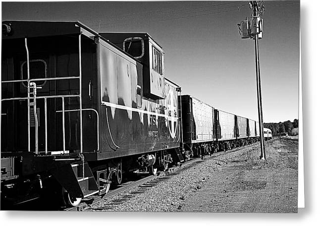 The Grand Canyon Express 2 Black And White Greeting Card
