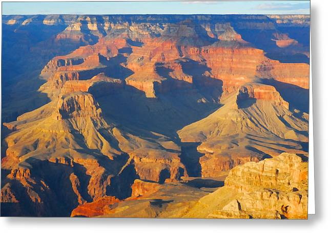 The Grand Canyon From Outer Space Greeting Card by Jpl