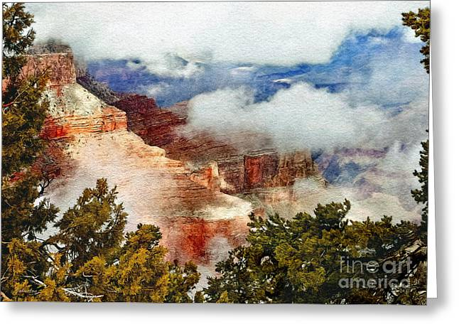 The Grand Canyon National Park Greeting Card by Bob and Nadine Johnston