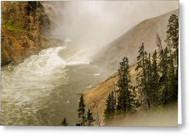 Greeting Card featuring the photograph The Grand Canyon Of Yellowstone by Yeates Photography