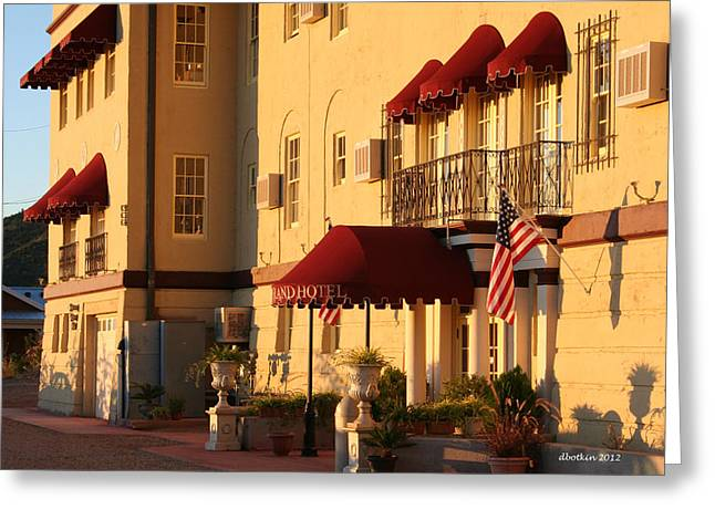 The Grand Hotel Greeting Card by Dick Botkin