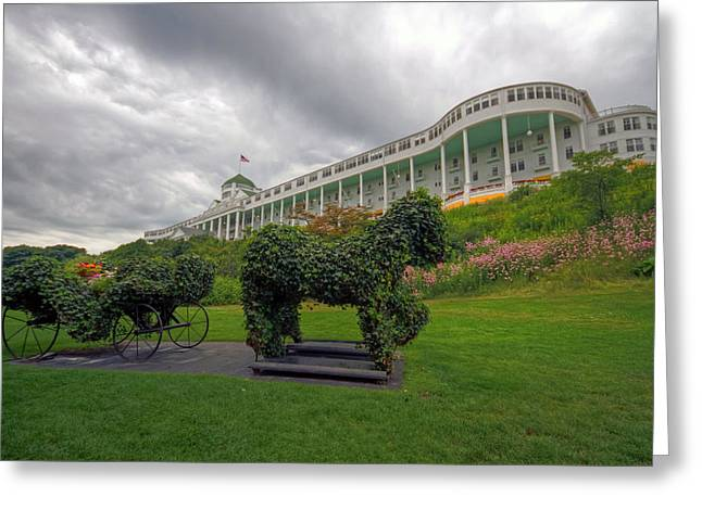 The Grand Hotel Mackinac Island Greeting Card by Jerry Gammon