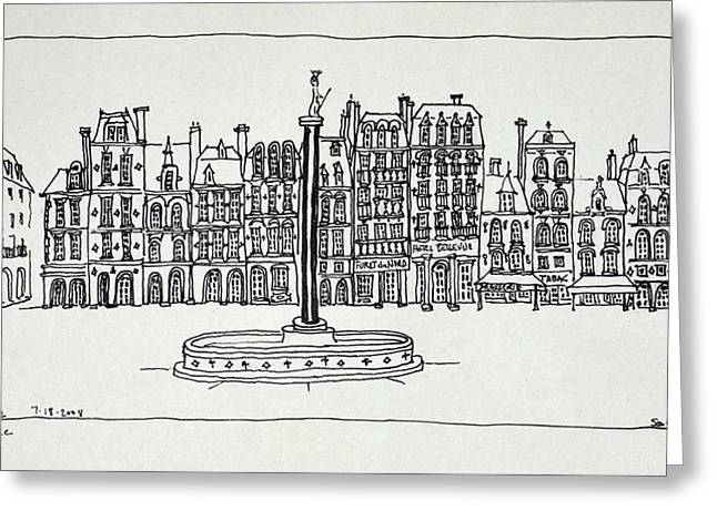The Grand Place, Lille, France Greeting Card