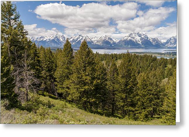 The Grand Tetons From Signal Mountain - Grand Teton National Park Wyoming Greeting Card