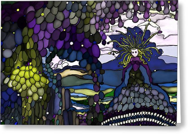 The Grape Arbor Medusa Greeting Card by Constance Krejci