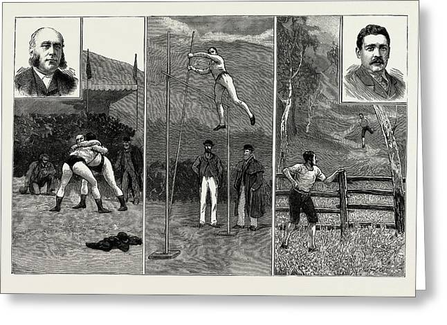 The Grasmere And Lake District Sports, Westmorland Greeting Card by Litz Collection